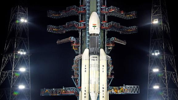 The GSLV MkIII-M1 rocket with India