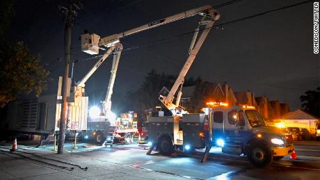 ConEd said it is working to restore power in Brooklyn.