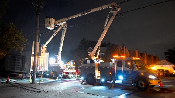 """From ConEd on Twitter: """"We have restored about half of the 33,000 customers in sections of Brooklyn without power since last night.  Our women and men continue to work safely to restore everyone as soon as we can."""""""