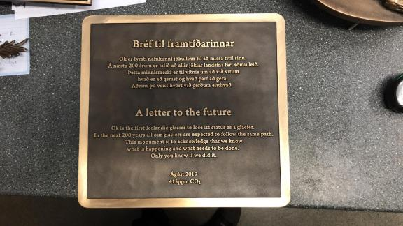 The memorial plaque for Iceland's Okjökull glacier contains a dire warning.