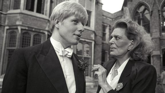 A 21-year-old Johnson speaks with Greek Minister for Culture Melina Mercouri in June 1986. Johnson at the time was president of the Oxford Union, a prestigious student society.