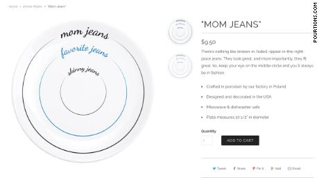 "Pourtions' ""Mom Jeans"" plates can still be purchased on its website."