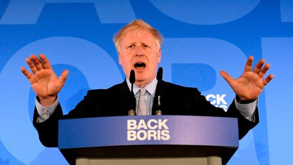 Johnson launches his Conservative Party leadership campaign in June 2019.