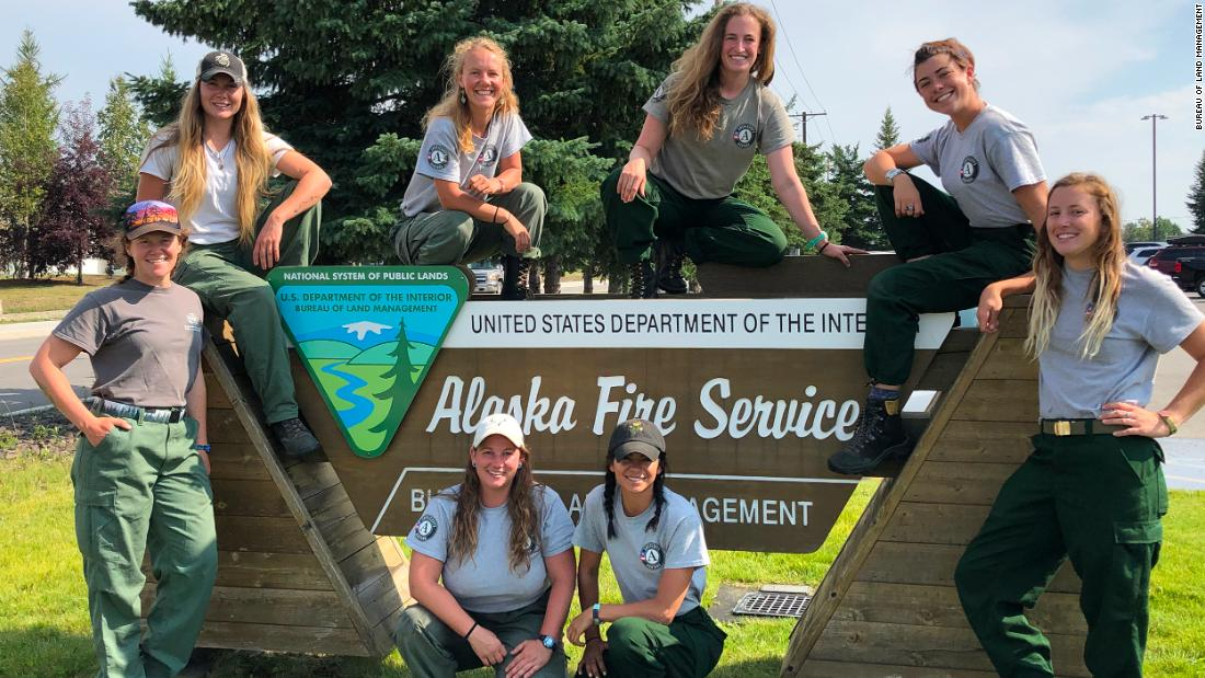 As more than 200 fires burn in Alaska, an all-women's fire crew is headed there to help