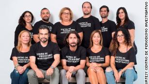 Staff members at Puerto Rico's Center for Investigative Journalism.