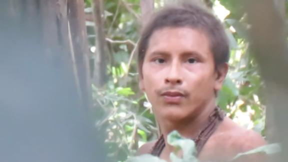 From Survival International press release: This uncontacted Awá mans name is not known. But his rainforest has been destroyed around him, and just one small island of forest is now left. Loggers are now moving in.