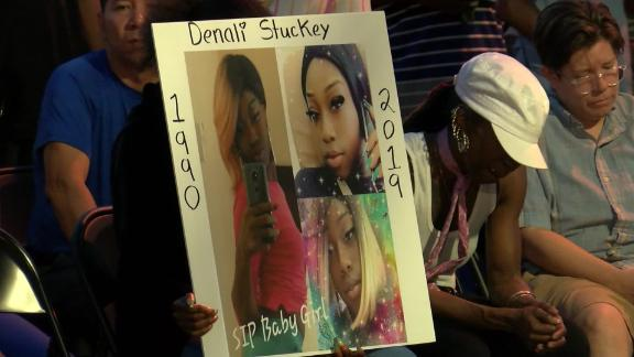 Family, friends and community members gathered Monday to honor Denali Stuckey.