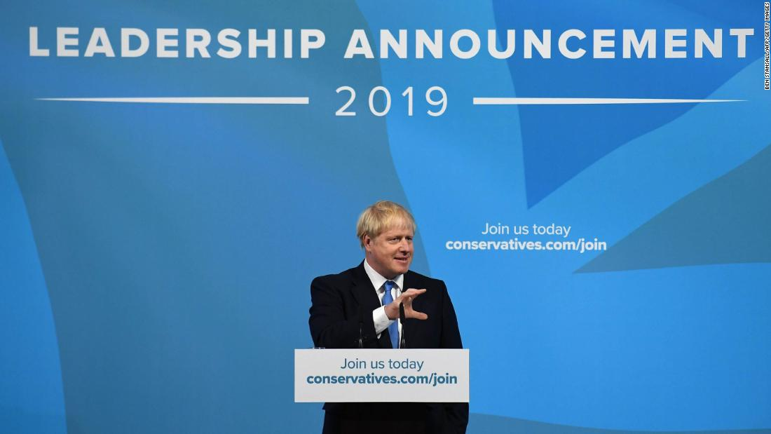 Boris Johnson elected as head of UK's Conservative party