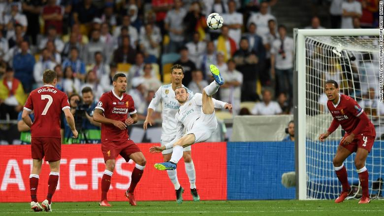 Gareth Bale's stunning overhead kick against Liverpool turned the 2018 Champions League final in Real's favor.