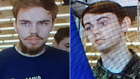 Authorities have said the two suspects Kam McLeod, left, and Bryer Schmegelsky are wanted in connection with three killings.
