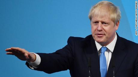 LONDON, ENGLAND - JULY 23: Newly elected British Prime Minister Boris Johnson speaks during the Conservative Leadership announcement at the QEII Centre on July 23, 2019 in London, England. After a month of hustings, campaigning and televised debates the members of the UK's Conservative and Unionist Party have voted for Boris Johnson to be their new leader and the country's next Prime Minister, replacing Theresa May. (Photo by Jeff J Mitchell/Getty Images)