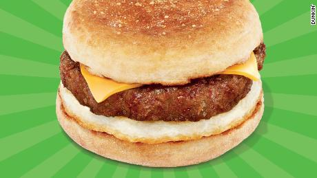 Dunkin' is selling a breakfast sandwich with Beyond Meat sausage in Manhattan.