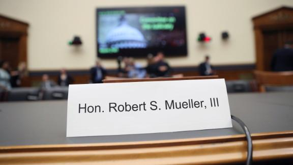 Former special counsel Robert Mueller, accompanied by his top aide in the investigation Aaron Zebley, will testify before the House Judiciary Committee hearing on his report on Russian election interference, on Capitol Hill, in Washington, Wednesday, July 24, 2019. (AP Photo/Andrew Harnik)