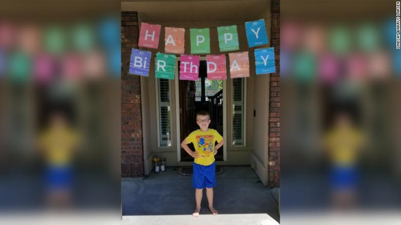 Christian Larsen at his ninth birthday party.