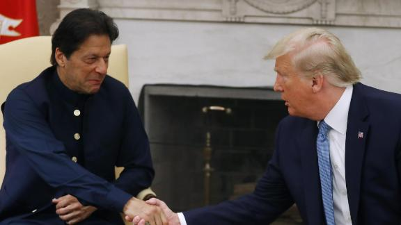 US President Donald Trump and Pakistani Prime Minister Imran Khan at the White House on July 22, 2019 in Washington, DC.