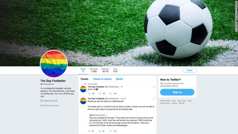 A Twitter account claiming to belong to an anonymous gay footballer has been deleted, a day before the user was due to reveal his identity.