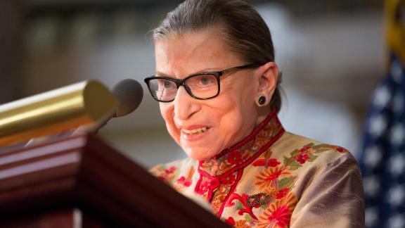 WASHINGTON, DC - MARCH 18: U.S. Supreme Court Justice Ruth Bader Ginsburg speaks at an annual Women