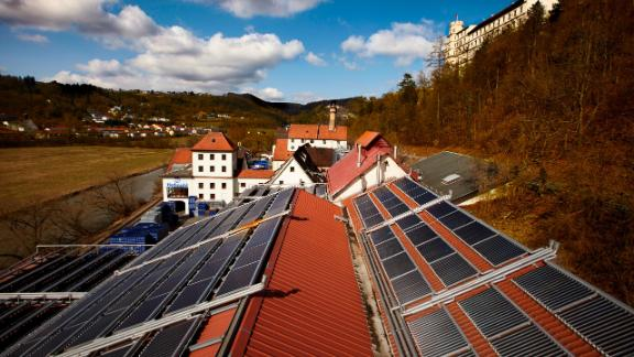 Hofmühl's solar panels cover a surface area of nearly 9,300 square feet.