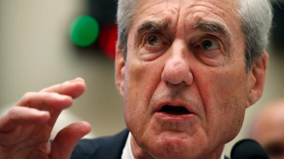 Former special counsel Robert Mueller testifies before the House Intelligence Committee hearing on his report on Russian election interference, on Capitol Hill, Wednesday, July 24, 2019, in Washington. (AP Photo/Alex Brandon)