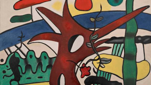 This Fernand Léger painting was among stolen artwork recovered from an alleged burglary ring.
