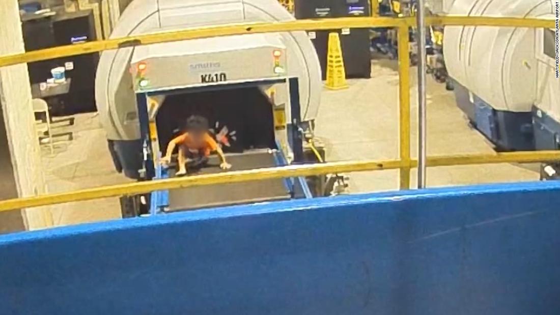 Toddler injured after ride down airport baggage conveyor belt
