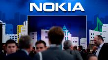 People visiting the Nokia stand at Mobile World Congress in Barcelona in 2019.