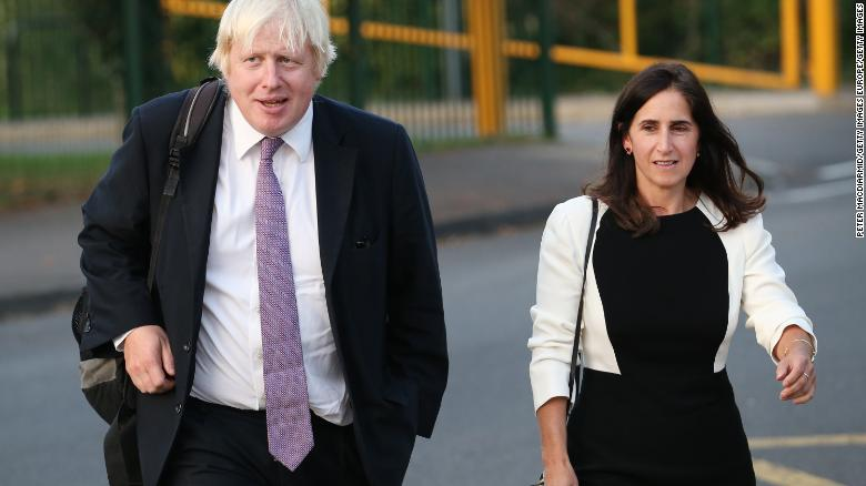 Boris Johnson and ex-wife Marina Wheeler pictured in 2014.