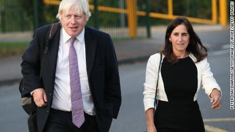 Boris Johnson and ex-wife Marina Wheeler depicted in 2014