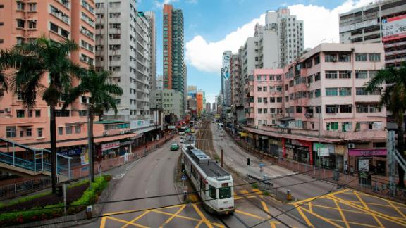 Central Yuen Long on July 25, 2019. The town, in the north of Hong Kong near the Chinese border, will see a major protest on July 27.