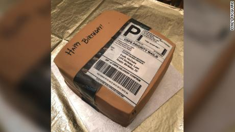 The Amazon box cake was created by Sweets Dreams Bakery in North Carolina.