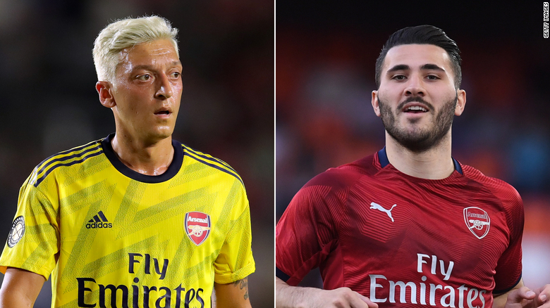 ผลการค้นหารูปภาพสำหรับ Security 'incidents' force Arsenal stars Mesut Özil and Sead Kolašinac to miss season opener