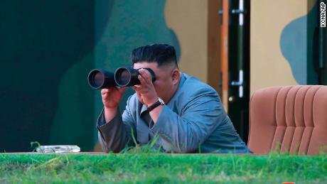 This Thursday , the 25th of July 2019, which was made available by the North Korean government on Friday, July 26, 2019, beoba North Korean leader Kim Jong Un is testing a missile test in North Korea.