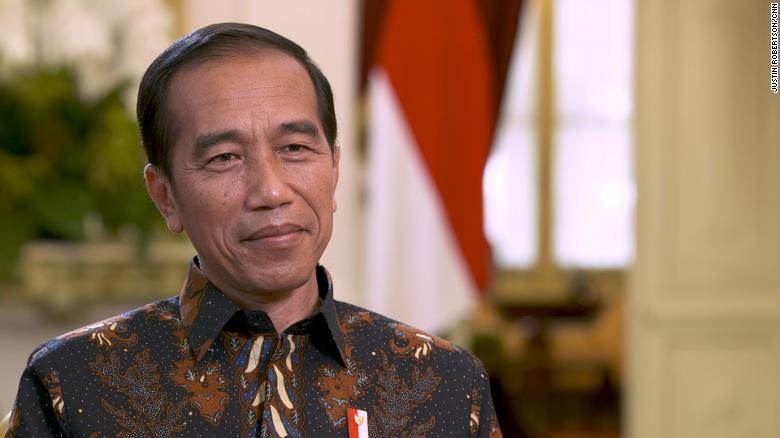 Indonesian President Joko Widodo at the Merdeka Palace in Jakarta in July 2019.