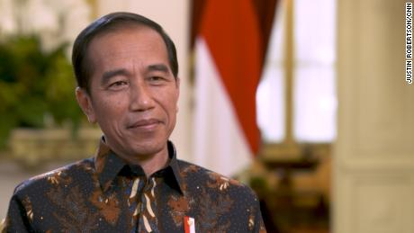 Indonesian President Joko Widodo at the Merdeka Palace in Jakarta in July 2019.