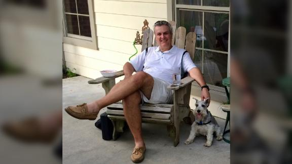 Tomeu Vadell and his dog, Sargent Pepper, in Lake Charles, Louisiana.