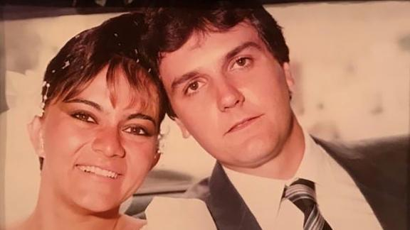 Tomeu and Dennysse Vadell on their wedding day, February 1986, in Caracas, Venezuela.