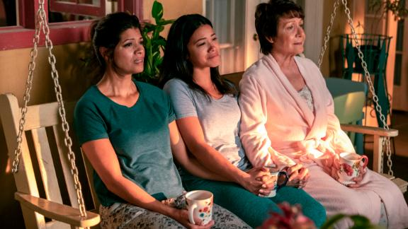 Andrea Navedo, Gina Rodriguez and Ivonne Coll in 'Jane the Virgin'