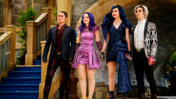 Booboo Stewart, Dove Cameron, Sofia Carson and Cameron Boyce in 'Descendants 3' (Disney Channel/David Bukach)