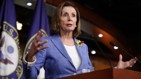 Speaker of the House Nancy Pelosi holds her weekly press conference at the U.S. Capitol Visitors Center July 26, 2019 in Washington, DC. The House of Representatives passed a 2-year budget deal Thursday that was struck between Pelosi and Treasury Secretary Steven Mnuchin.