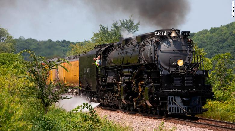 After nearly 60 years off the tracks, the world's largest steam locomotive roars