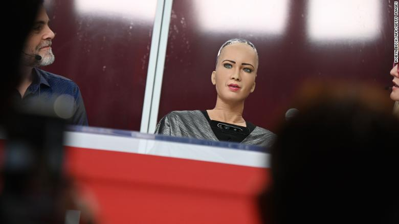 Sophia, robot and public figure, was modeled after the British actress Audrey Hepburn.
