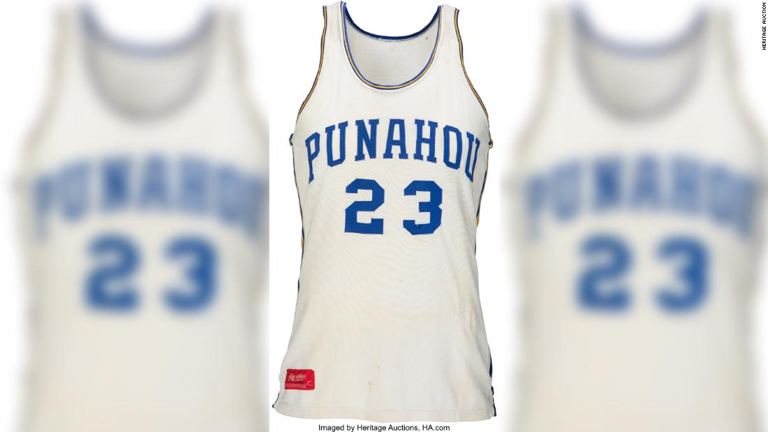 President Obama's high school basketball jersey nets $120,000 at auction