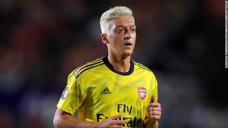 Mesut Ozil plays for English Premier League club Arsenal.