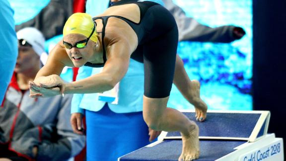 Shayna Jack of Australia competes during the 2018 Commonwealth Games.