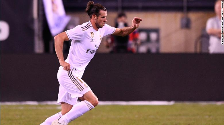 Real Madrid's Welsh forward, Gareth Bale, came on as a substitute against Atletico.