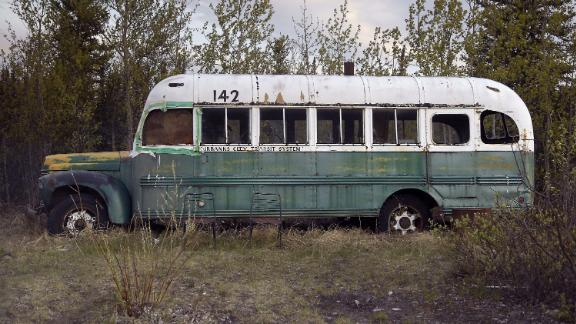 """Into the Wild"" tells the story of Chris McCandless, who lived out of this bus for several months before he died in August 1992."