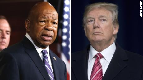 Image result for trump elijah cummings