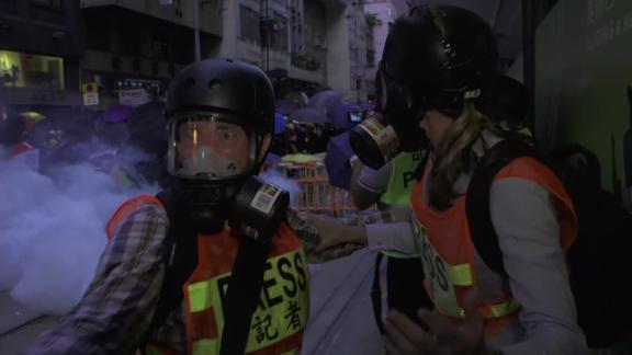 anna coren tear gas 1