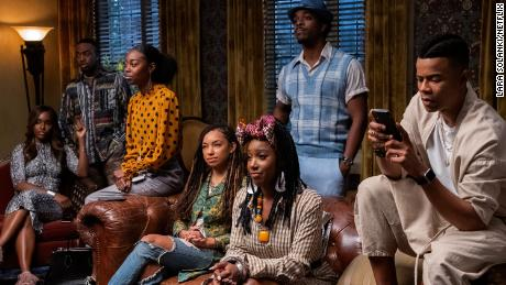 "A scene from Netflix's ""Dear White People,"" a comedy-drama set at a university."