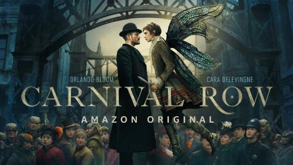 """<strong>""""Carnival Row""""</strong>: Orlando Bloom and Cara Delevingne star in this Victorian fantasy world filled with mythological immigrant creatures. Feared by humans, they are forbidden to live, love, or fly with freedom. But even in darkness, hope lives, as a human detective and a faerie rekindle a dangerous affair. <strong>(Amazon Priime) </strong>"""